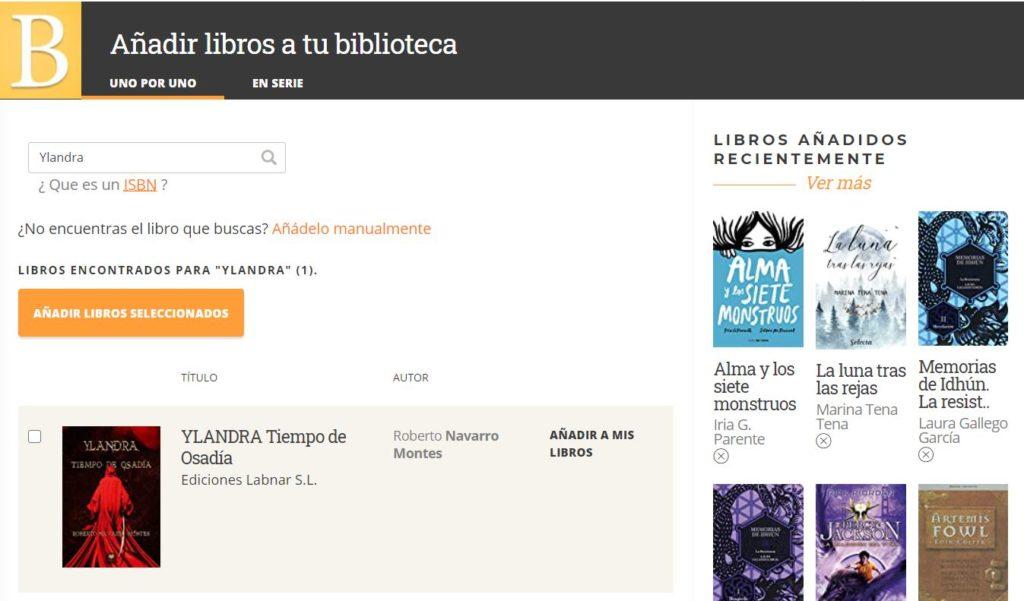 Babelio - Añadir libros