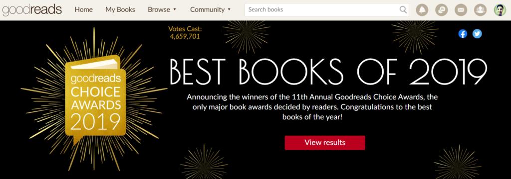 Funciones adicionales de Goodreads: premios