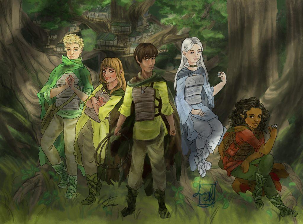 La Constelación de los Dragones: personajes