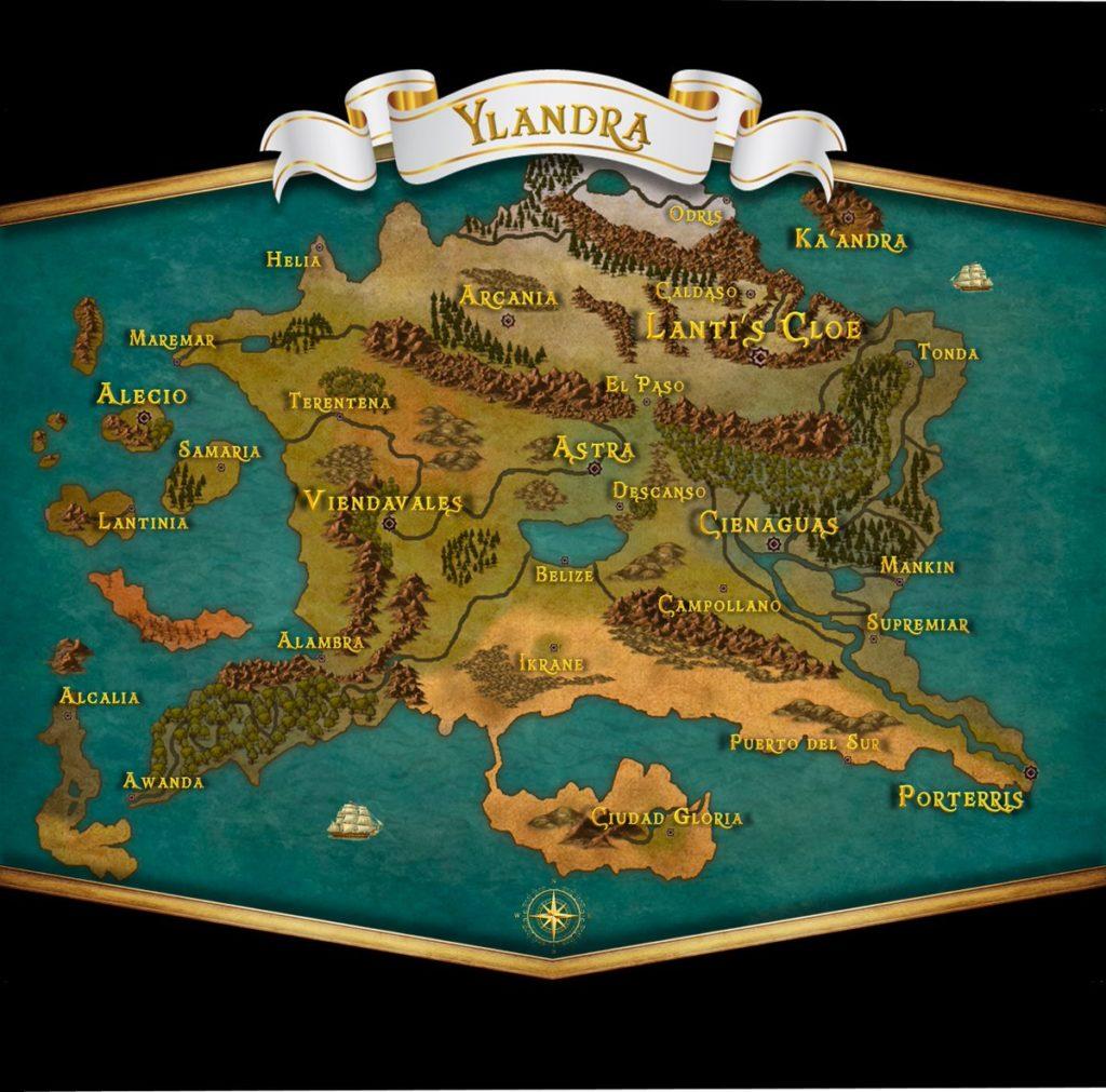 Ylandra - Mapa