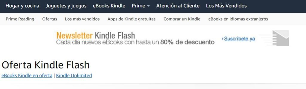 comprar ebooks baratos: kindle flash