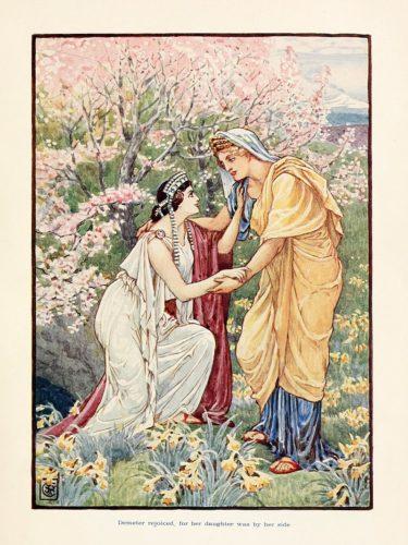 Misterios de Eleusis - Encuentro de Deméter y Perséfone