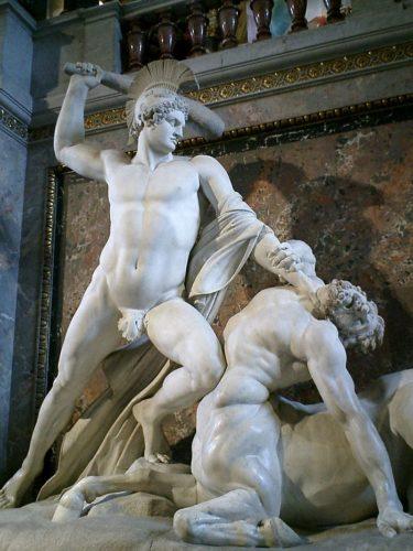 Mito de Teseo: lucha contra el centauro