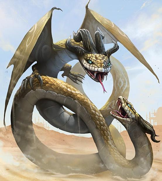 Serpiente de dos cabezas: anfisbena alada